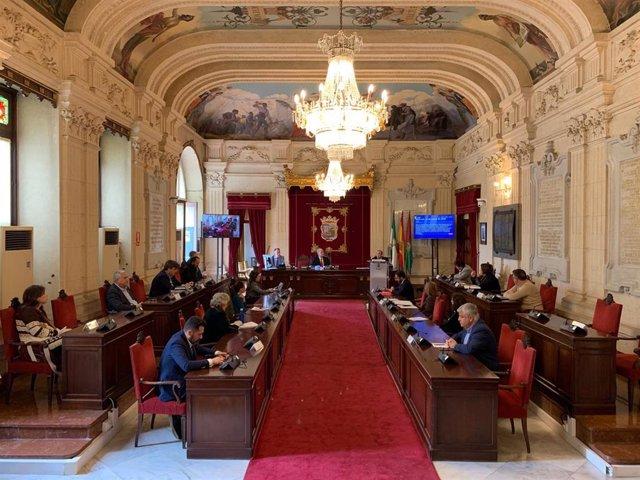Pleno extraordinario en Málaga durante el estado de alarma por coronavirus
