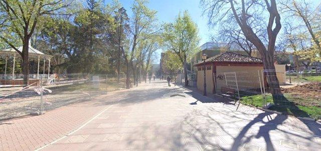 Imagen del Parque de la Concordia de Guadalajara en Google Earth