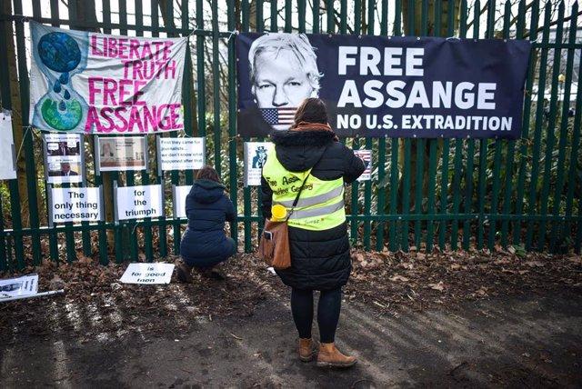 Movilización en apoyo de Julian Assange
