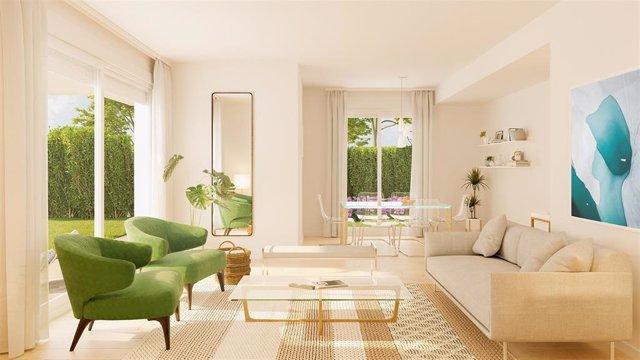 Interior de una vivienda de una promoción de Habitat Inmobiliaria