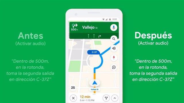 Google Maps cambia de voz en español para dejar de sonar robótica