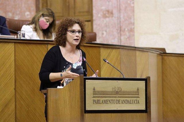 La parlamentaria andaluza de Ciudadanos (Cs) Mar Sánchez, en una foto de archivo.