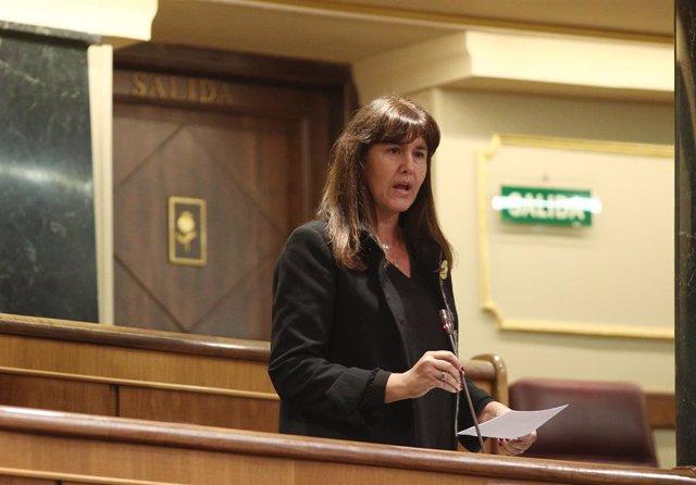 La portavoz del Grupo Junts per Catalunya en el Congreso de los Diputados, Laura Borràs, interviene en el pleno