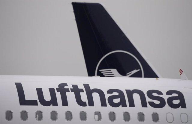 Un avión de Lufthansa en Frankfurt