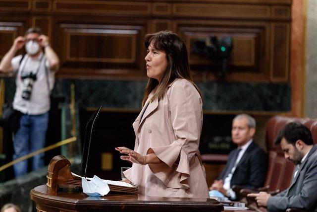 La portaveu del Grup JxCat al Congrés dels Diputats, Laura Borràs. Madrid (Espanya), 3 de juny del 2020.
