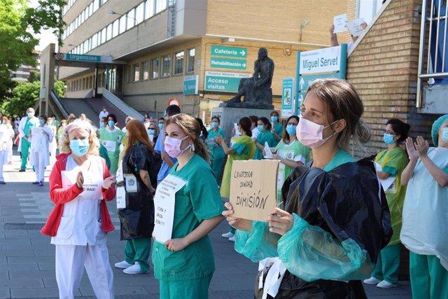 Sanitarios de Aragón piden la dimisión de la Consejera de Sanidad
