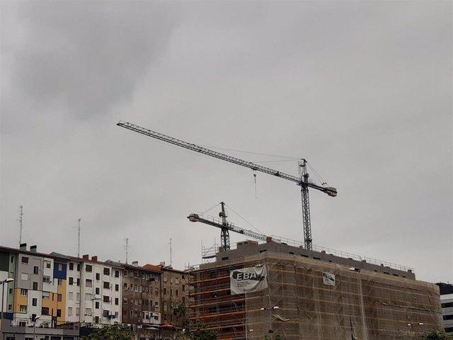 Obras de construcción en Bizkaia.