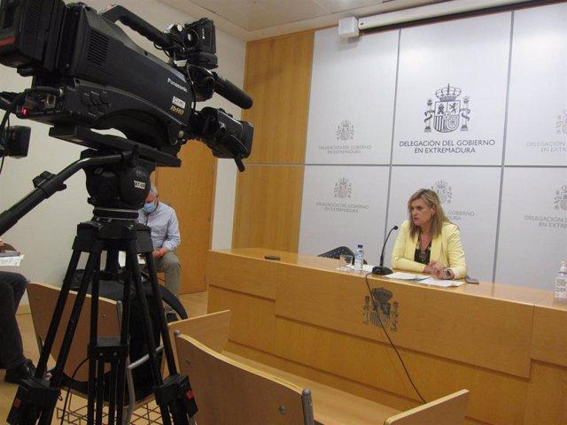La delegada del Gobierno, Yolanda García Seco, en rueda de prensa.