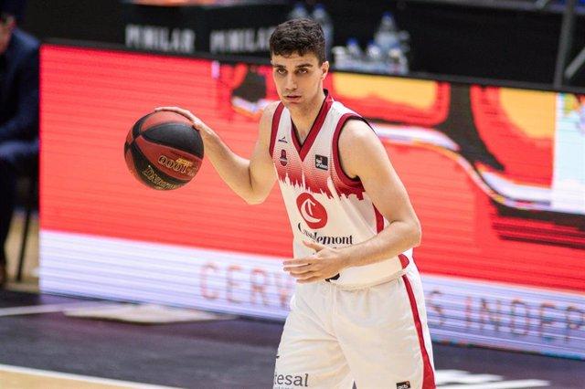 El jugador del Casademont Zaragoza Carlos Alocén en un partido de la Fase Final de la Liga Endesa 2019-20