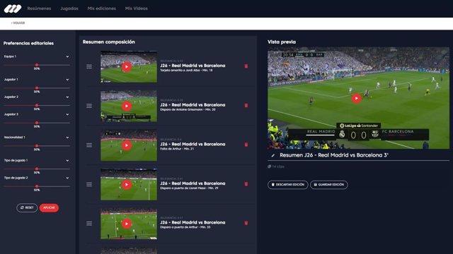 Fútbol.- Mediapro estrena la inteligencia artificial en los resúmenes de fútbol