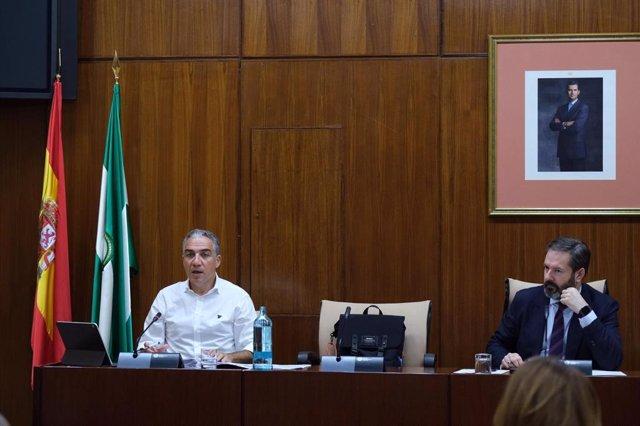 Elías Bendodo, este jueves en comisión del Parlamento