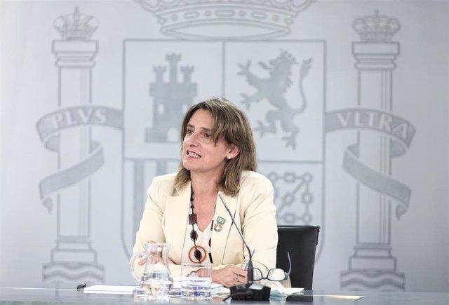 La vicepresidenta para la Transición Ecológica y el Reto Demográfico, Teresa Ribera,
