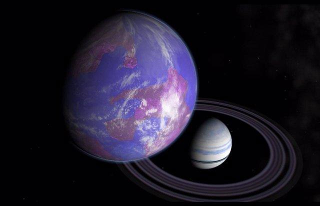 Exoluna como la Tierra orbitando un planeta como Saturno