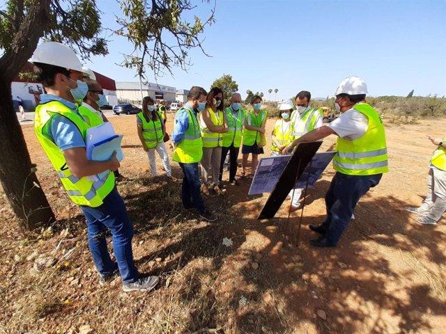 Comienzo de las obras del nuevo acceso al polígono de Marratxí desde la autopista a Sa Pobla.