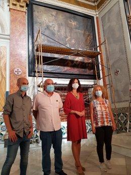 El IVCR+I restaura 'Santa Clara y la expulsión de los sarracenos' del pintor Paolo de Matteis · ·