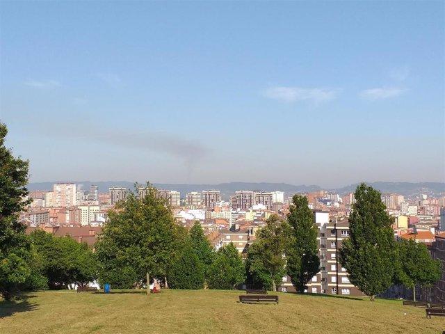 Nube negra vista desde el parque de los Pericones