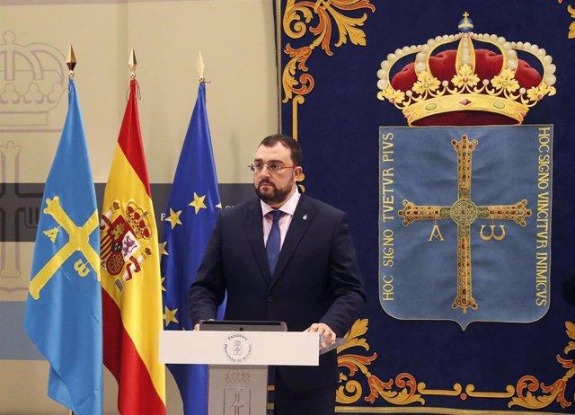 El presidente del Principado, Adriuán Barbón.