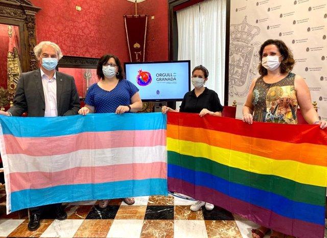 Presentación del Orgullo 2020 en el Ayuntamiento de Granada