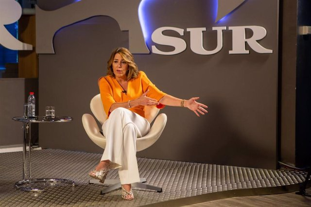 La secretaria general del PSOE-A, Susana Díaz, en una entrevista en el Diario SUR.