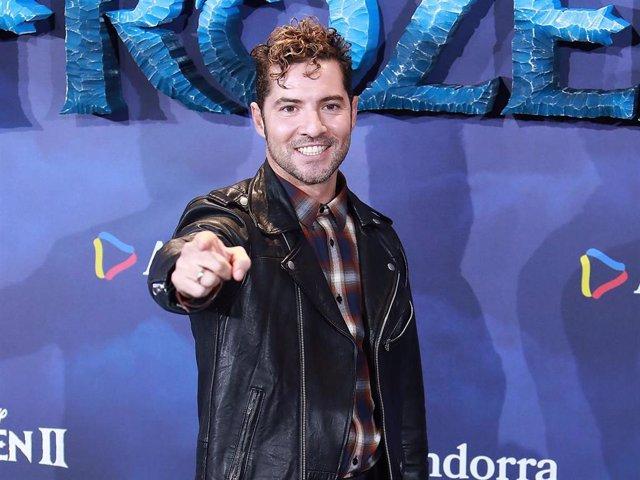 """David Bisbal, en el estreno de la película """"Frozen 2"""""""