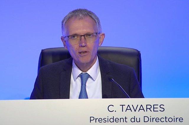 Imagen de Carlos Tavares en la junta general de accionistas de PSA.