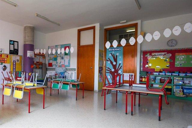 Aula de un centro de educación infantil de Valencia.