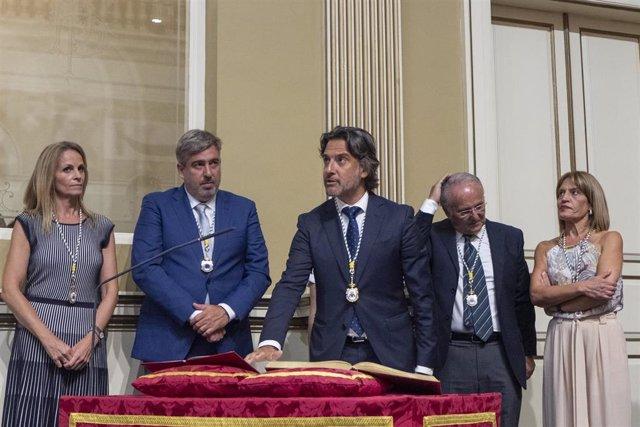 Gustavo Matos, en su toma de posesión como presidente del Parlamento de Canarias