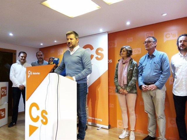 El diputado de Ciudadanos en la Junta General del Principado, Sergio García, en una imagen de archivo
