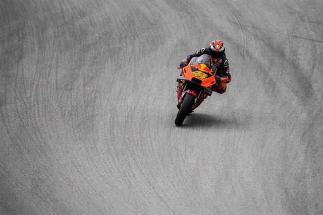Pol Espargaró rueda durante el Gran Premio de Catalunya de 2019