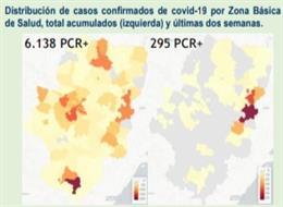 El Boletín Epidemiológico de Aragón cifra en siete los brotes activos en las comarcas en fase 2.