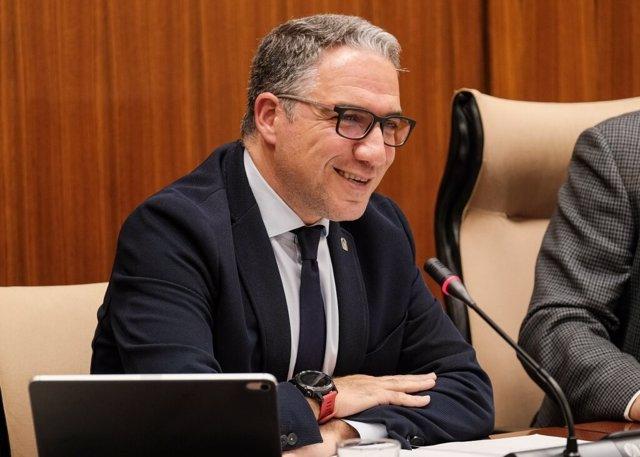 El consejero de la Presidencia, Administración Pública e Interior de la Junta de Andalucía, Elías Bendodo