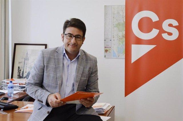 Manuel Benjumea, portavoz de Cs en la Diputación de Sevilla