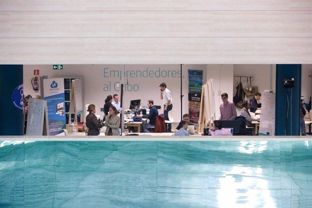 Imagen de archivo de la aceleradora de empresas El Cubo en Sevilla, una iniciativa de Andalucía Open Future, impulsada por la Junta de Andalucía y Telefónca.