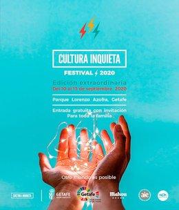 Cartel promocional del festival Cultura Inquieta de Getafe.