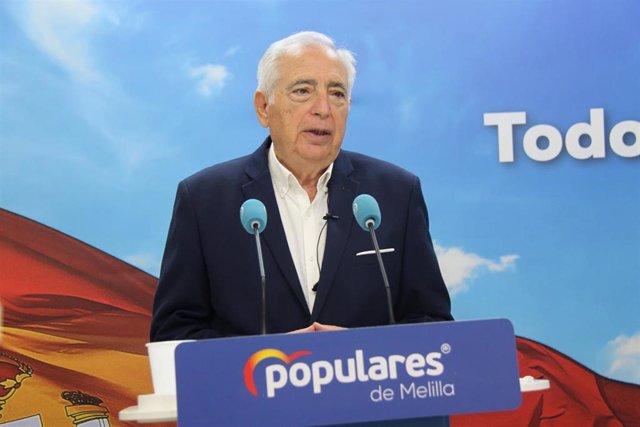 El presidente del PP de Melilla, Juan José Imbroda
