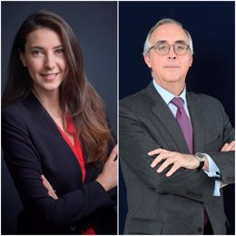 La secretaria general de CIAM, Mélanie Riofrio Piché, y el presidente, José Antonio Caínzos