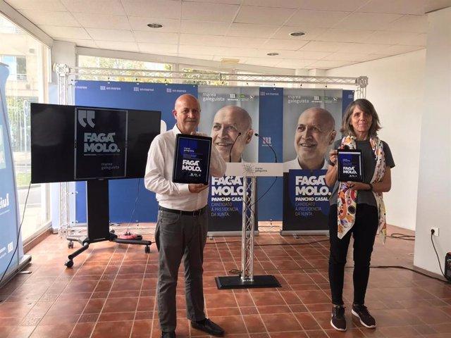 Pancho Casal y Peque González, de Marea Galeguista, en el arranque electoral