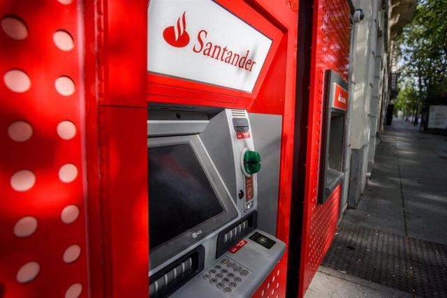 Cajeros del Banco Santander