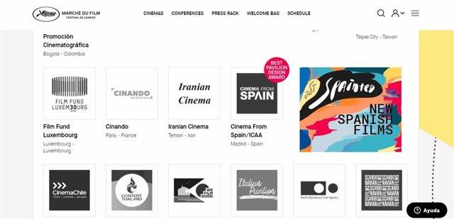 Festival de Cannes premia a España por su pabellón 'Cinema From Spain'.