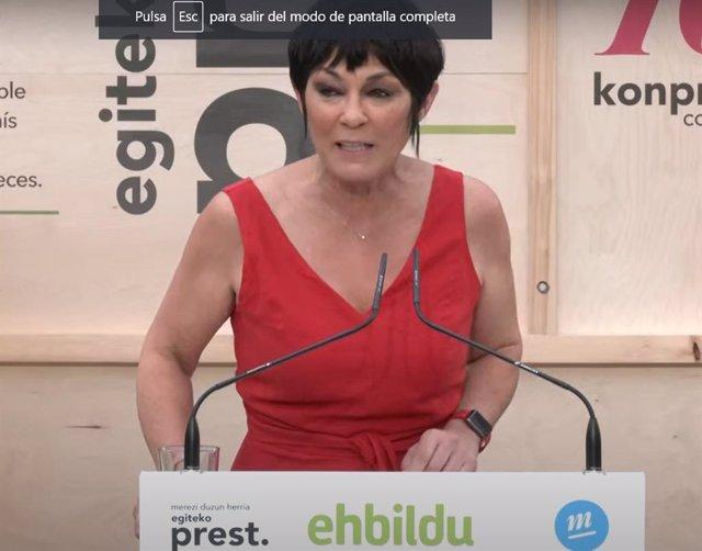 """La candidata de EH Bildu aspira a """"cambiar el rumbo"""" de Euskadi tras los comicios."""
