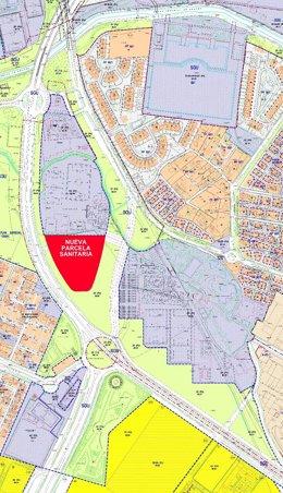 Plano de la parcela que se licitará para un complejo hospitalario
