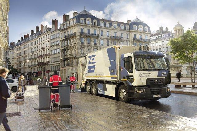 Imagen de un camión eléctrico de Renault Trucks.
