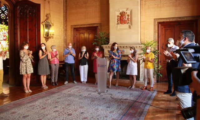 Acto institucional en el Consell de Mallorca por el Día del Orgullo.