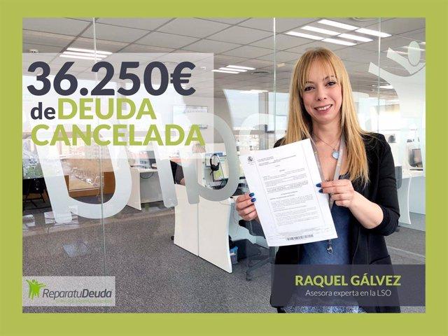 COMUNICADO: Los abogados de Repara tu Deuda cancelan en Jaén (Andalucía) 36.250