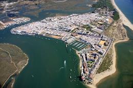Imagen aérea de Isla Cristina.
