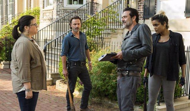 Negan y Rick en The Walking Dead