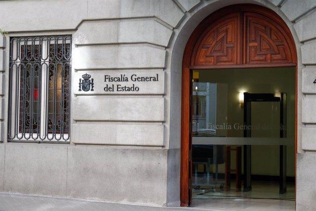 Entrada de la sede de la Fiscalía General del Estado.
