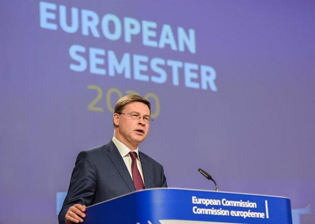 El vicepresidente económico del Ejecutivo comunitario, Valdis Dombrovskis