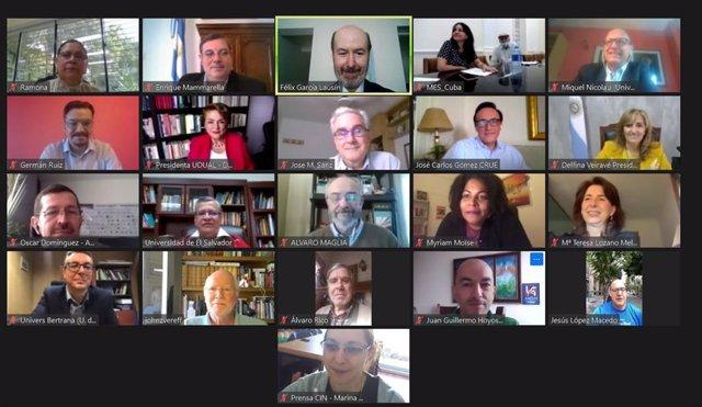 Videoconferencia del XVIII Pleno del Consejo Universitario Iberoamericano.
