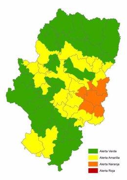 Alerta naranja de peligro de incendios forestales en Bajo Ebro Forestal
